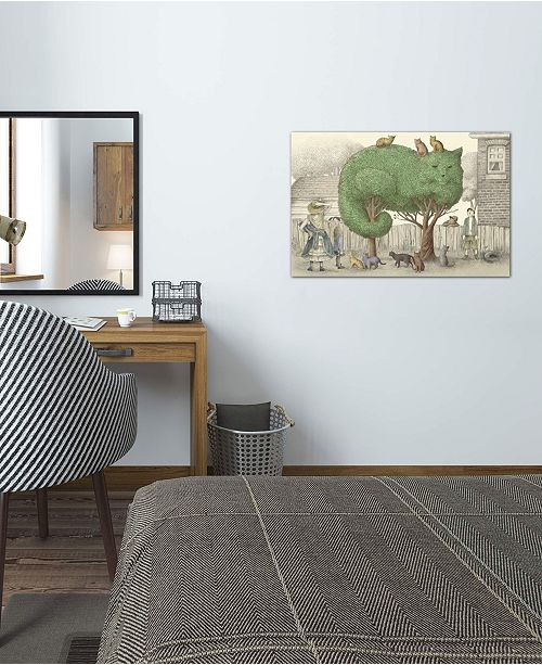 """iCanvas """"The Cat Tree"""" by Eric Fan Gallery-Wrapped Canvas Print (26 x 40 x 0.75)"""