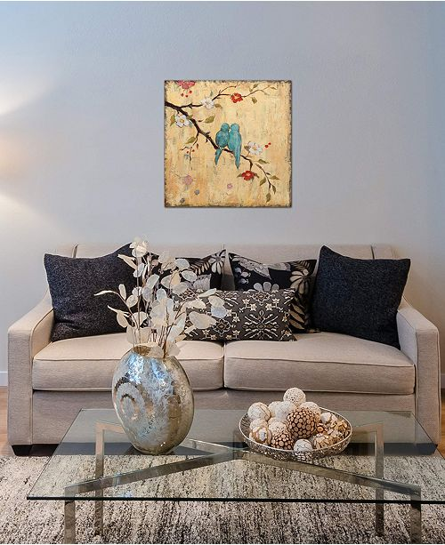 """iCanvas """"Love Birds II"""" by Katy Frances Gallery-Wrapped Canvas Print (18 x 18 x 0.75)"""