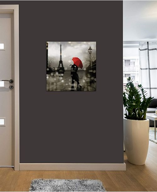 """iCanvas """"Paris Romance"""" by Kate Carrigan Gallery-Wrapped Canvas Print (26 x 26 x 0.75)"""