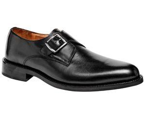 Image of 1960 Single Monk Strap Rubber Sole Men's Shoes