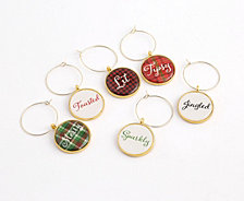 Thirstystone Christmas Words Wine Charms Set of 6