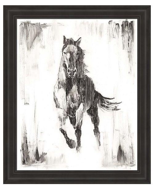 Metaverse Rustic Black Stallion II by Ethan Harper Framed Art