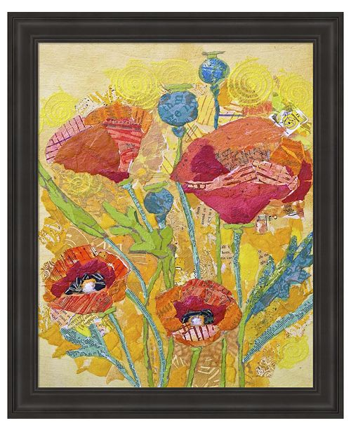 Metaverse Poppy Collage II by Elizabeth St. Hilaire Framed Art