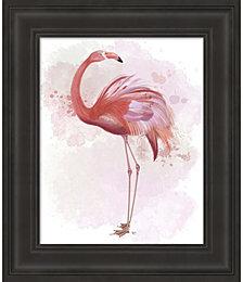 Fluffy Flamingo 3 by Fab Funky Framed Art