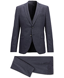 BOSS Men's Extra-Slim Fit Three-Piece Virgin Wool Suit