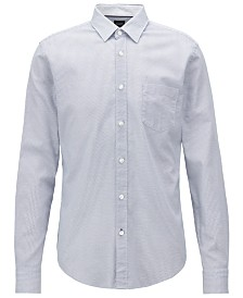 BOSS Men's Slim-Fit Oxford Cotton Shirt