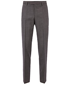 BOSS Men's Regular/Classic-Fit Virgin Wool Trousers