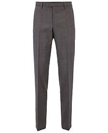 BOSS Men's Regular/Classic-Fit Virgin Wool Trousers
