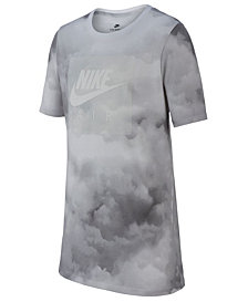 Nike Big Boys Cloud-Print Cotton T-Shirt