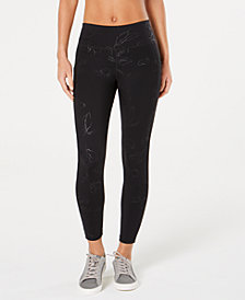 Ideology Tonal-Print Ankle Leggings, Created for Macy's