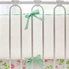 Mint and White Crib Bumper