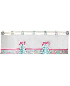 Pixie Baby in Aqua Curtain Valance