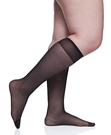 Berkshire Women's  Plus Size Day Sheer Knee Highs Hosiery 6451