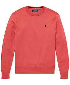 Polo Ralph Lauren Big Boys Cotton Crew-Neck Sweater
