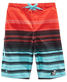 Laguna Big Boys Summer Stripe Swim Trunks