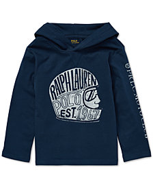 Polo Ralph Lauren Little Boys Cotton Hooded Graphic T-Shirt