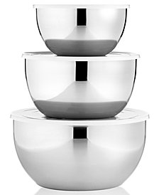 Martha Stewart Collection Covered Stainless Steel Mixing Bowls, Set of 3, Created for Macy/s