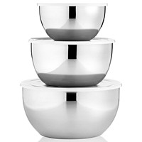 3-Sets Martha Stewart Collection Covered Stainless Steel Mixing Bowls