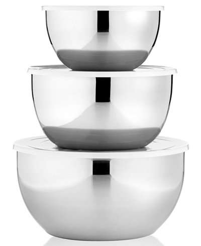 Martha Stewart Collection Covered Stainless Steel Mixing Bowls, Set of 3, Only at Macy/s
