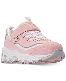 Skechers Little Girls' D'Lites - Crowd Appeal Adjustable Strap Athletic Sneakers from Finish Line