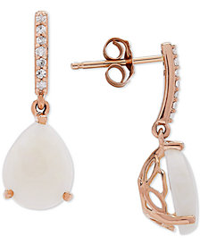 Opal (2-1/5 ct. t.w.) & Diamond Accent Drop Earrings in 14k Gold