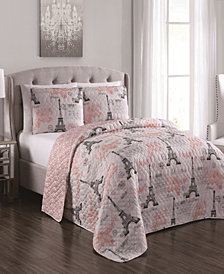 Brigette 3pc Queen Quilt Set