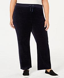 Juicy Couture Juniors' Plus Size Mar Vista Velour Pants