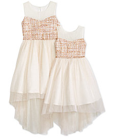 Rare Editions Toddler, Little & Big Girls Sister Boucle Illusion Neck Dress
