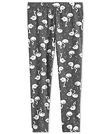 Epic Threads Little Girls Swan-Print Leggings, Created for Macy's