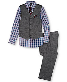 Nautica Little Boys Vest, Shirt & Pants Set