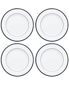 Dansk Allegro Blue Salad Plates, Set of 4