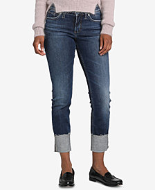 Silver Jeans Co. Elyse Slim Cuffed Jeans