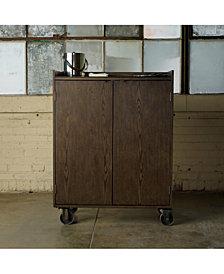 Smith Burnish Rolling Bar Cart