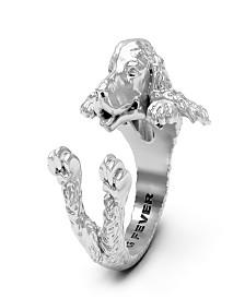 Cocker Spaniel Hug Ring in Sterling Silver
