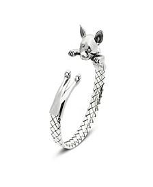 Chihuahua Hug Bracelet in Sterling Silver
