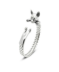 Chihuahua Hug Bracelet in Sterling Silver