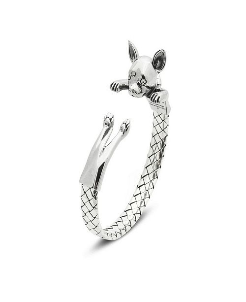 Dog Fever Chihuahua Hug Bracelet in Sterling Silver