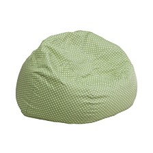 Small Green Dot Kids Bean Bag Chair