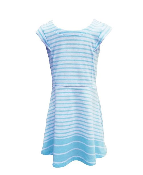 ROSIR Little Girls Classic Knit A - Line Dress