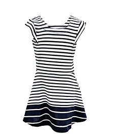 ROSIR Striped A-Line Dress