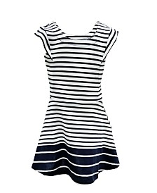 ROSIR Little Girls Striped A - Line Dress