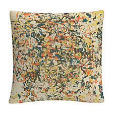 "Speckled Colorful Splatter Abstract 7 16x16"" Decorative Throw Pillow by ABC"