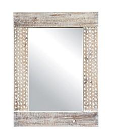 Wall Mirror w/White Wash Finish