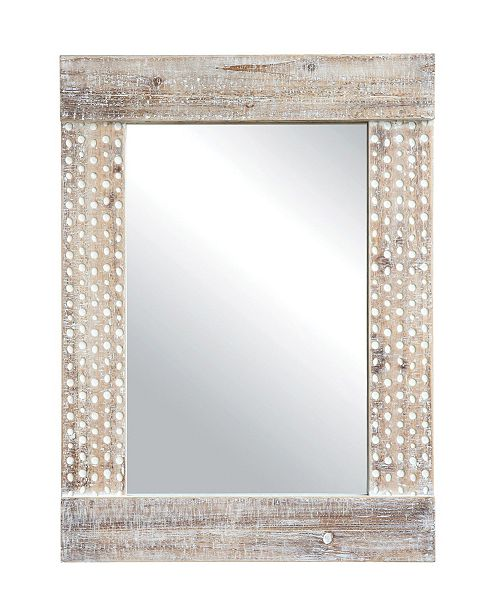 3R Studio Wall Mirror w/White Wash Finish