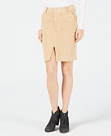 Free People Corduroy Pencil Skirt