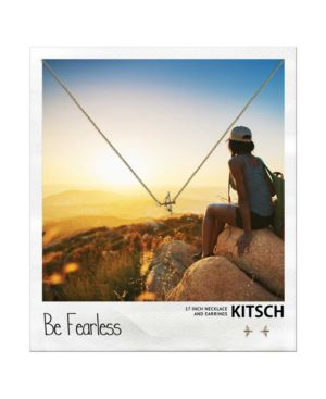 KITSCH Insta Collection Bow And Arrow Necklace And Earring Box Set in Gold