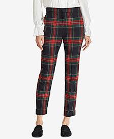 Lauren Ralph Lauren Tartan Skinny Crop Pants