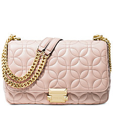 MICHAEL Michael Kors Sloan Quilted Floral Chain Shoulder Bag