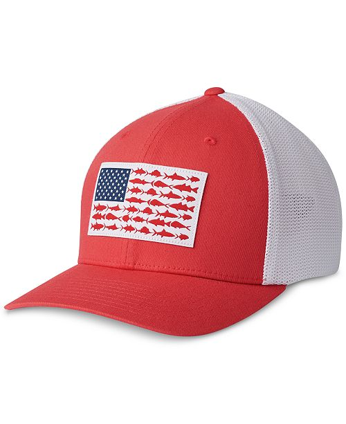 96647014632e5 Columbia Men s PFG Mesh Fish Flag Ball Cap   Reviews - Hats
