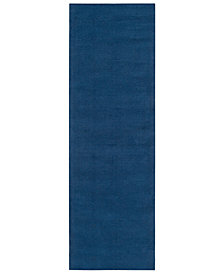 "Surya Mystique M-330 Dark Blue 2'6"" x 8' Area Rug"